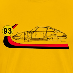 93 Vintage 911 Turbo  Racing  T-Shirts - Men's Premium T-Shirt