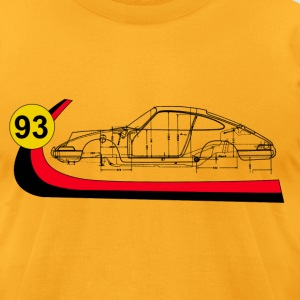 93 Vintage 911 Turbo  Racing  T-Shirts - Men's T-Shirt by American Apparel