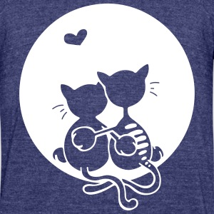Love cats T-Shirts - Unisex Tri-Blend T-Shirt by American Apparel