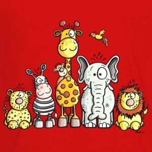 Happy African Animal Team Kids' Shirts - Kids' Premium Long Sleeve T-Shirt