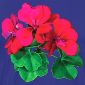 Small Magenta Geraniums T-Shirts - Men's Premium T-Shirt