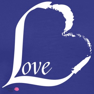 Love in white - Men's Premium T-Shirt