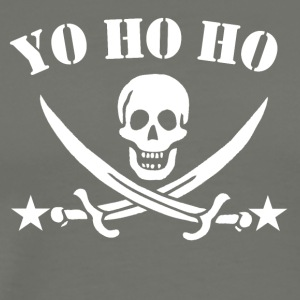 Yo Ho Ho Pirate Skull - Men's Premium T-Shirt