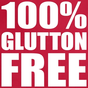 100% Glutton Free Diet Humor Aprons - Adjustable Apron