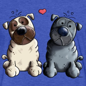Pugs in Love T-Shirts - Fitted Cotton/Poly T-Shirt by Next Level