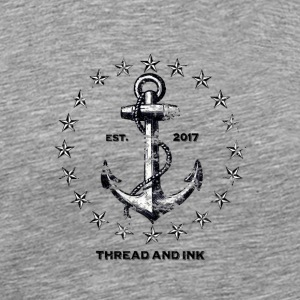 Vintage Nautical Anchor and Stars. Traditional tee - Men's Premium T-Shirt