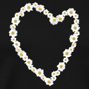 Flower Heart white - Men's Premium T-Shirt