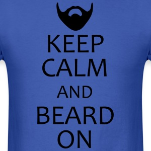 Keep Calm and Beard On shirt - Men's T-Shirt