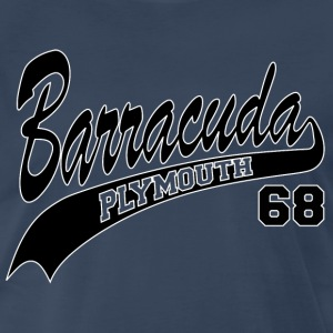 68 Barracuda - white outline - Men's Premium T-Shirt