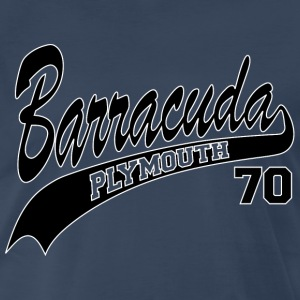 70 Barracuda - white outline - Men's Premium T-Shirt