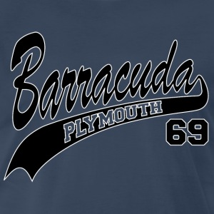 69 Barracuda-white outline - Men's Premium T-Shirt