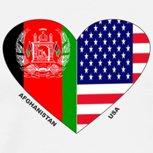 Afghanistan USA Friendship Flags - Men's Premium T-Shirt