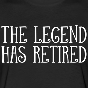 The Legend Has Retired T-Shirts - Fitted Cotton/Poly T-Shirt by Next Level
