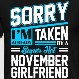 Sorry Im Already Taken By A Super Hot October Boyf T-Shirts - Men's Premium T-Shirt