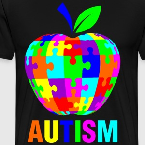 Autism With Apple T-Shirts - Men's Premium T-Shirt