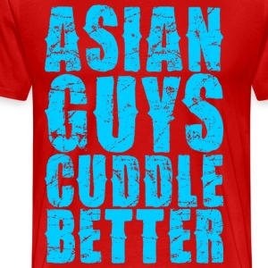Asian Guys Cuddle Better T-Shirts - Men's Premium T-Shirt