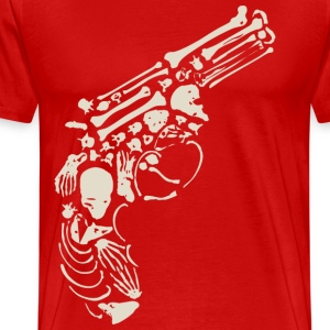 Antic Skull Gun T-Shirts - Men's Premium T-Shirt