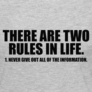 TWO RULES IN LIFE Long Sleeve Shirts - Women's Premium Long Sleeve T-Shirt