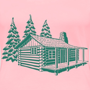 log cabin - Women's Premium T-Shirt