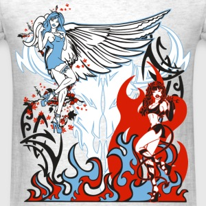 Angel & Devil Babes - Men's T-Shirt