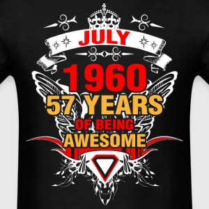 July 1960 57 Years of Being Awesome - Men's T-Shirt