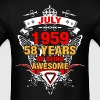 July 1959 58 Years of Being Awesome - Men's T-Shirt