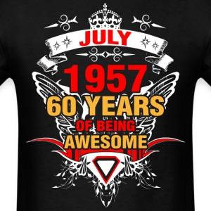 July 1957 60 Years of Being Awesome - Men's T-Shirt