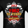 July 1962 55 Years of Being Awesome - Men's T-Shirt