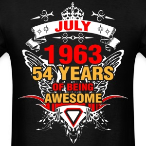 July 1963 54 Years of Being Awesome - Men's T-Shirt