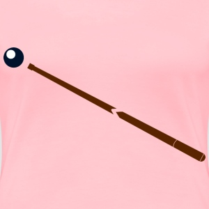 Pool Stick with Ball - Women's Premium T-Shirt