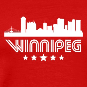 Retro Winnipeg Skyline - Men's Premium T-Shirt
