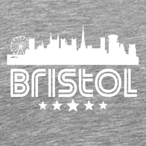 Retro Bristol Skyline - Men's Premium T-Shirt