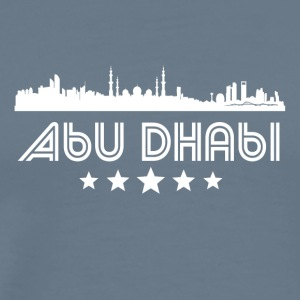 Retro Abu Dhabi Skyline - Men's Premium T-Shirt