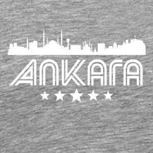Retro Ankara Skyline - Men's Premium T-Shirt