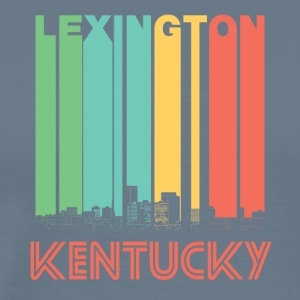 Retro Lexington Kentucky Skyline - Men's Premium T-Shirt