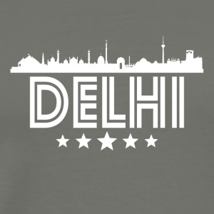Retro Delhi Skyline - Men's Premium T-Shirt
