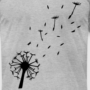 Flying Dandelion T-Shirts - Men's T-Shirt by American Apparel