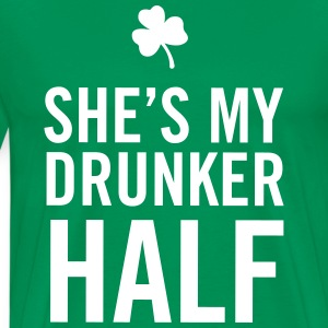 She's my drunker half T-Shirts - Men's Premium T-Shirt