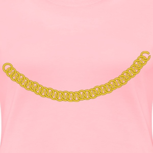 Gold Chain Curved as a Ne - Women's Premium T-Shirt