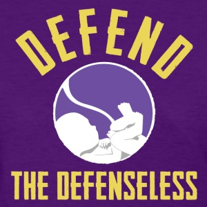 Defend the Defenseless - Purple Womens - Women's T-Shirt
