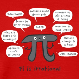Irrational Pi - Men's Premium T-Shirt