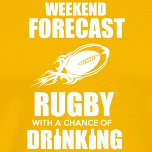 Weekend Forecast Rugby T Shirt - Men's Premium T-Shirt