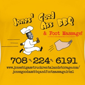 Jones Good Ass BBQ and Foot Massage logo T-Shirts - Women's Premium T-Shirt