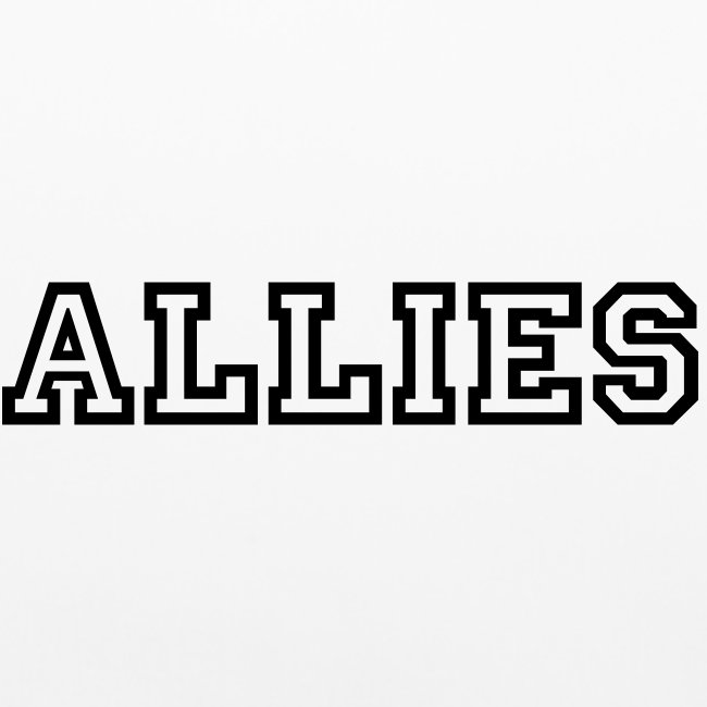 Allies Pillow Case with reversed Logo