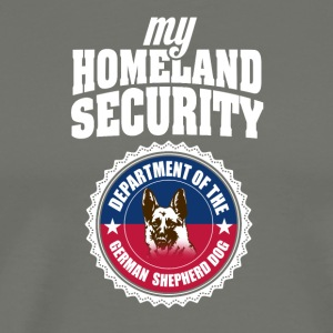 Cute and Cool German Shepherd - Homeland Security - Men's Premium T-Shirt
