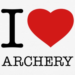 I LOVE ARCHERY - Baseball T-Shirt