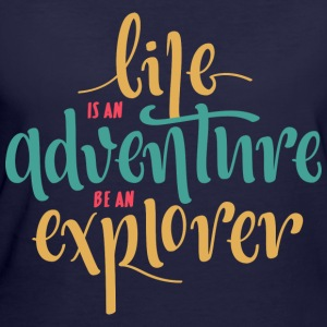 Life is an adventure - Women's 50/50 T-Shirt