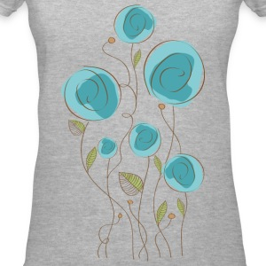 Delicate flowers - Women's V-Neck T-Shirt