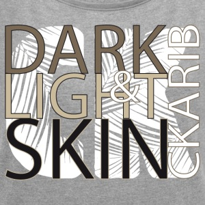 DARK & LIGHT - Women´s Roll Cuff T-Shirt