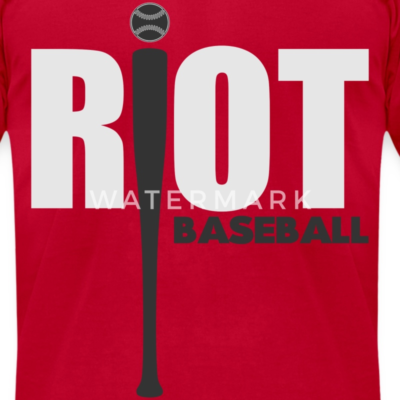 RIOT BASEBALL - Men's T-Shirt by American Apparel